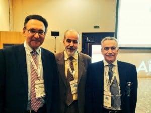 Sclerotherapy 2014 - Florencia (Italia): Dr. Germán Morales con los Dres. Juan Cabrera y Alexandro Frulini