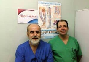 Drs. German Morales y Fernando Abadia. Especialistas en varices.