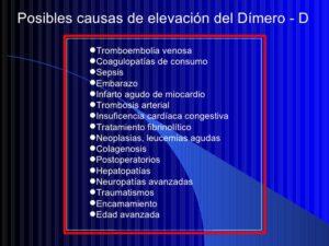 Causas de elevacion del Dimero-D