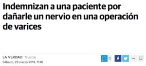 Complicaciones operacion de varices Murcia